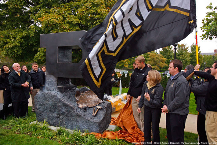 Unveiling of the Unfinished Block P statue